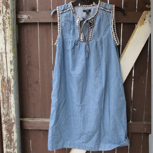 J.Crew Washed Chambray Dress  MED